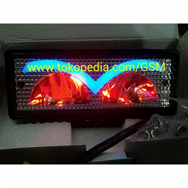 harga [Star Product] SUPER LED LIGHT BAR DEVIL EYES 30W Lampu sorot Offroad drl mobil motor elevenia.co.id