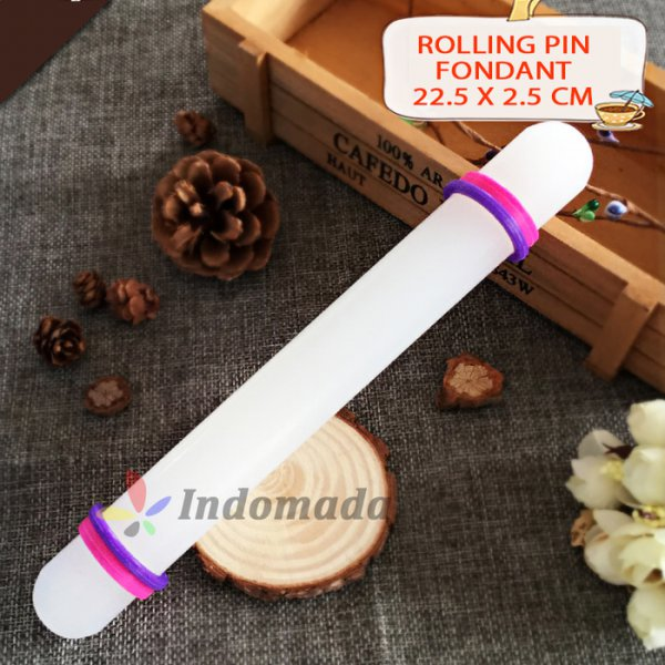 harga Stok Terbaru 2018 Rolling Pin Fondant Non Stick With Silicone Ring 22.5 cm Cookies Icing/ INDM32 elevenia.co.id