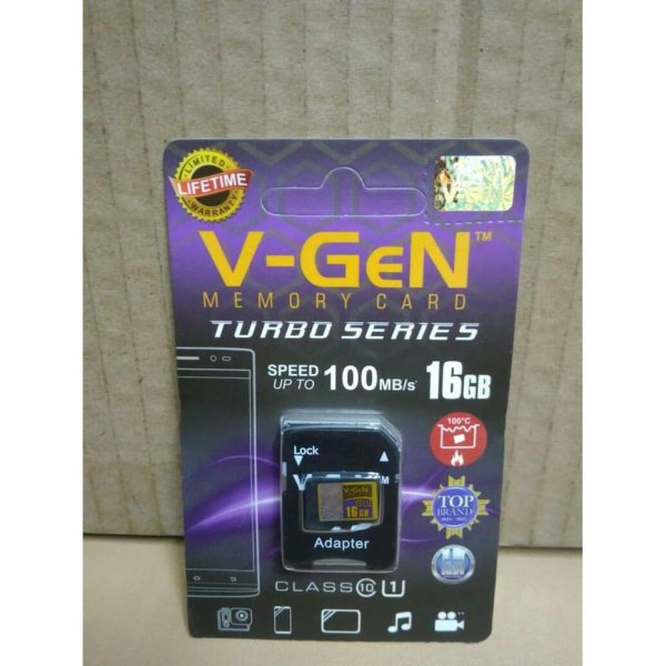 harga Micro SD 16GB V-gen Memory Card HP Vgen Microsd Turbo 16 GB Class 10 elevenia.co.id