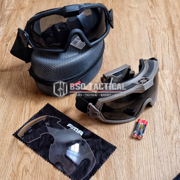 harga Goggle Tactical FMA Updated Version with Fan Military Airsoft Outdoor Eye Protection Anti Fogging elevenia.co.id
