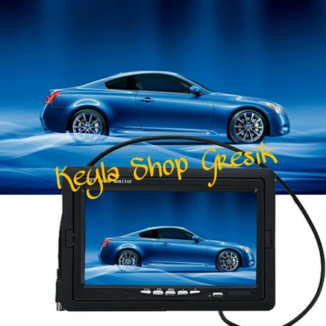 harga 7 Inch Color TFT LCD 12V Car Monitor Rear View Headrest monitor With 2 Channels Video Input For DVD VCD Reversing Rear view Screen Camera Layar mobil dasbor / dasboard KEYLA SHOP GRESIK elevenia.co.id
