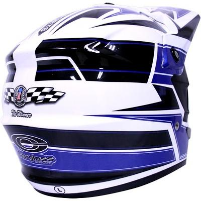 harga OTHER Helm Cargloss Full Face Super Moto 3 SNAIL Cross Fullface Blue elevenia.co.id
