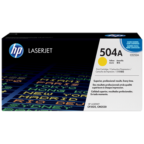harga Toner HP Original 504A-CE252A Yellow Laserjet Cartridge elevenia.co.id