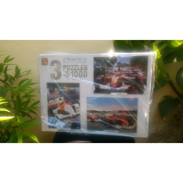 harga Puzzle 3 x 1000 KING Racing Cars Collection elevenia.co.id
