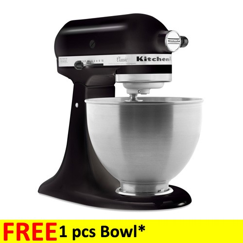 harga KitchenAid Classic 4.3 L Tilt-Head Stand Mixer 5K45SSEOB - Black elevenia.co.id
