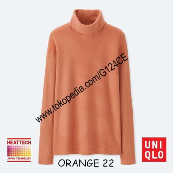 harga [KAOS] KAOS UNIQLO HEATTECH FLEECE TURTLE NECK PANJANG 400176 ORANGE 22 elevenia.co.id