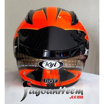 harga KYT Helm RCSeven 16 RC Seven Fullface RC7 Red gold Black elevenia.co.id