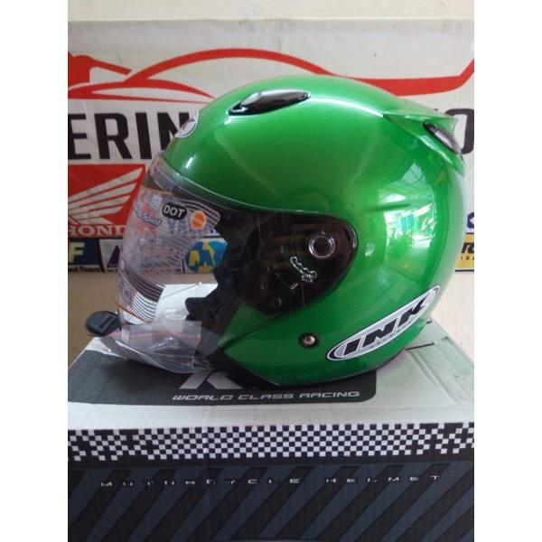 harga HELM INK CENTRO JET SOLID GREEN PEACE elevenia.co.id