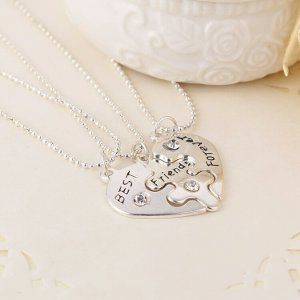 harga Kalung liontin best friend forever 3part elevenia.co.id