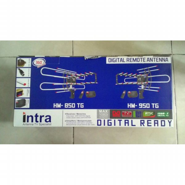 harga READY Antena Digital TV Intra Rotasi Remote Dengan Booster & Kabel HM-850/95 elevenia.co.id