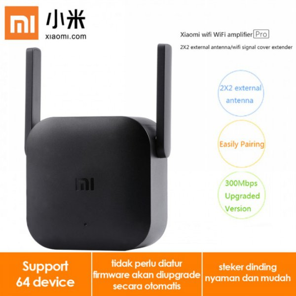 harga Original XIAOMI Wifi Extender Pro Repeater Amplifier 300Mbps 2 Antenna elevenia.co.id