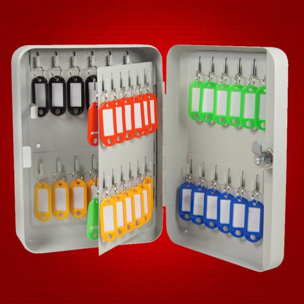 harga Metal Safety Lock Key Box Hook 48 Keys - Tempat Penyimpanan Kunci Gantung elevenia.co.id