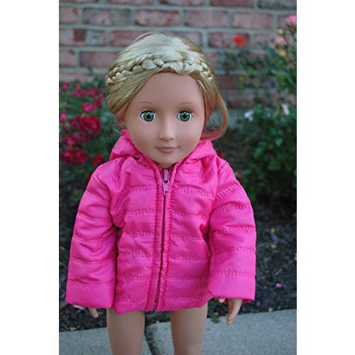 harga [macyskorea] Unique Doll Clothing Bright Pink Puffy Jacket for 18 Inch Dolls Including the/6377620 elevenia.co.id