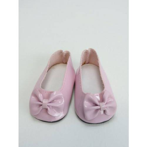 harga [macyskorea] American Fashion World 18 Pink Patent Bow Shoes-Fits 18 Inch American Girl Do/6377187 elevenia.co.id
