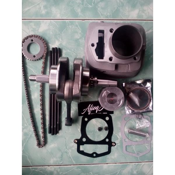 harga Paket bore up tiger 250cc, kruk as xiema 66,2 + blok piston set elevenia.co.id