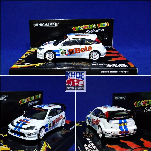 harga Diecast Ford Focus RS WRC No.46  RAC Rally 2007 Rossi-Cassina  1-43 by Minichamps elevenia.co.id