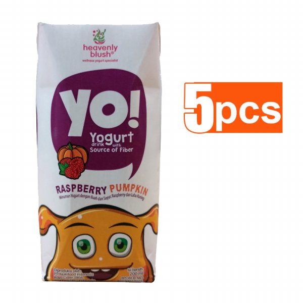 harga Heavenly Blush Yo! for Kids Prisma Raspberry Yogurt [200 mL/ 5 pcs] elevenia.co.id