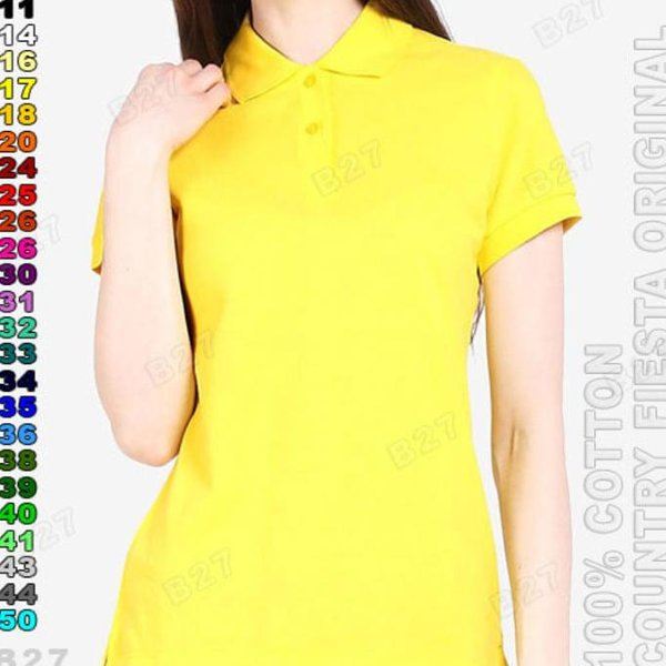 harga Hot COUNTRY FIESTA Original P3-17 Kaos Polo Shirt Cewe Cotton Kuning elevenia.co.id
