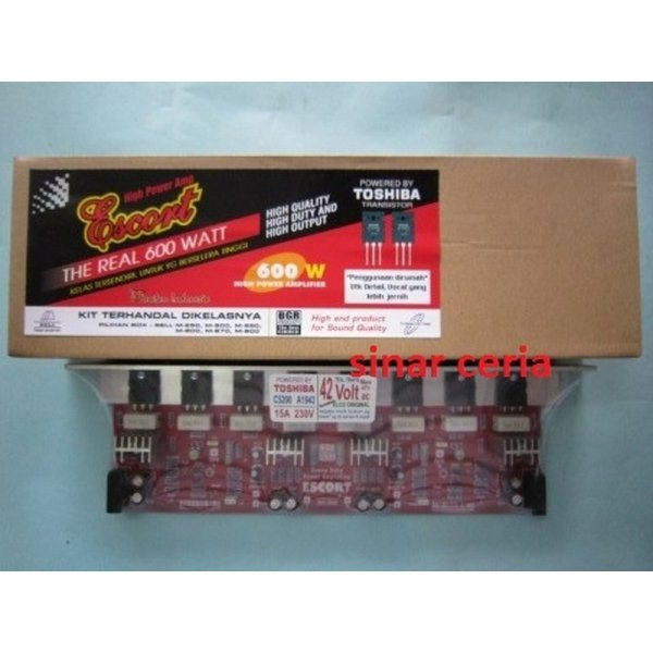 harga (High Quality) Kit High Power Amplifier ESCORT The Real 600w Stereo BELL elevenia.co.id