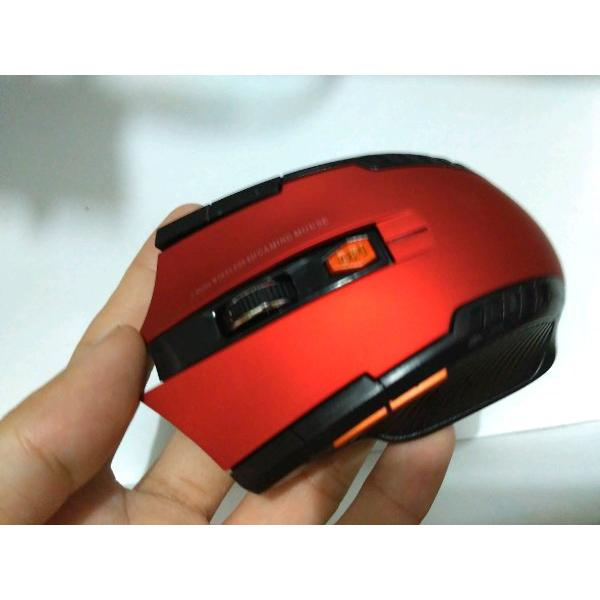 harga Warna merah Mouse Wireless Gaming Gamer 2.4GHz with Usb Receiver game elevenia.co.id