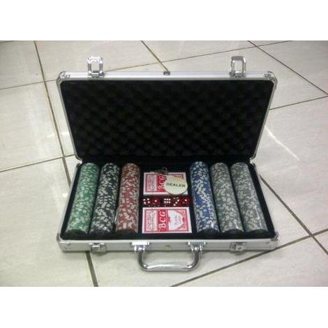 harga 300 Poker Chip Set with Metal Case elevenia.co.id