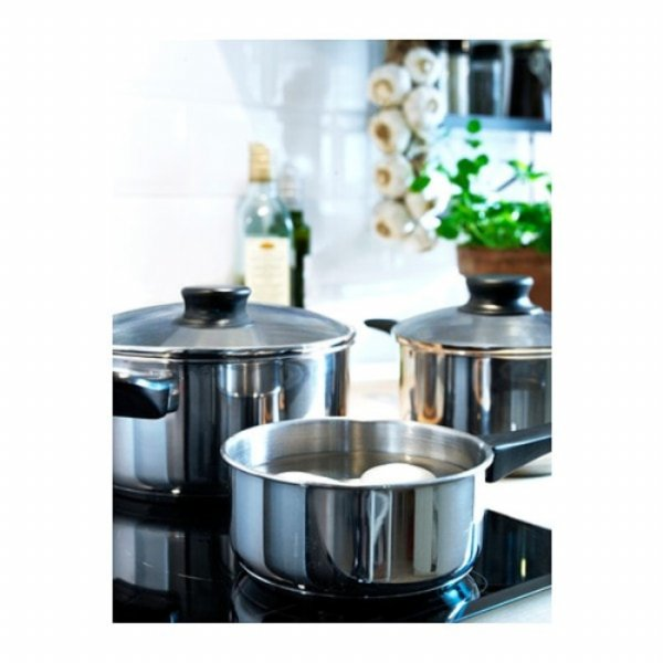 [A945] IKEA 5 pcs Set Panci Stainless Steel Annons Cook
