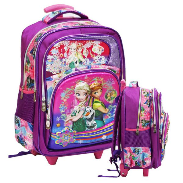 harga (Limited Offer) Tas Anak Trolley SD Frozen 5D Timbul Hologram ada 4 Kantung Besar elevenia.co.id