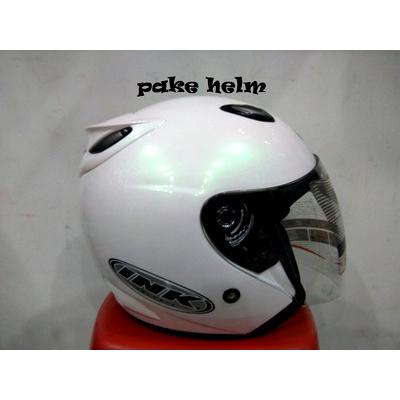 harga INK CENTRO HALF FACE HELM INK CENTRO JET SOLID WHITE 100% ORIGINAL elevenia.co.id