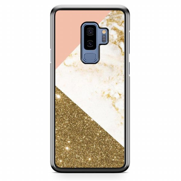 harga Pink And Gold Marble Apple Logo Z4824 Samsung Galaxy S9 | S9 Plus Custom Case elevenia.co.id