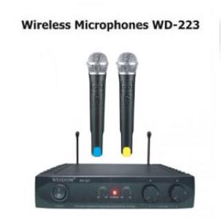 harga Mic Wireless Wisdom WD 223 Microphone Professional elevenia.co.id