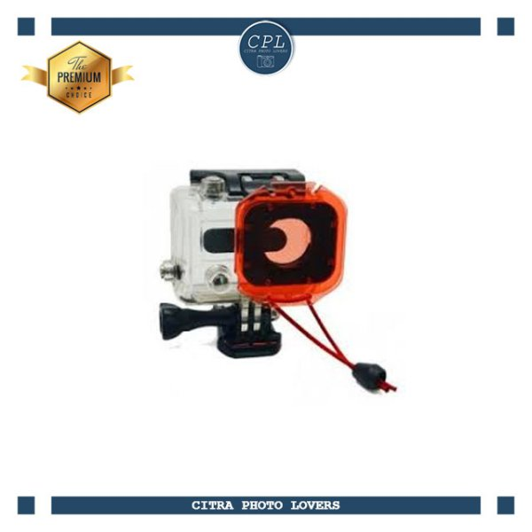 harga GP137 Red Filter Circular Polarizer Lens Cover with Elastic Tethers Strap elevenia.co.id