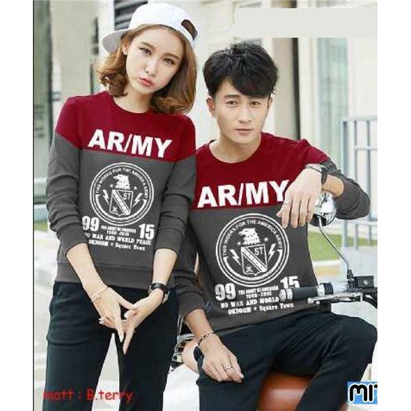 harga Sweater couple termurah BAJU PASANGAN KAPEL SHIRT KAOS SWEATER COUPLE LP ARMY elevenia.co.id