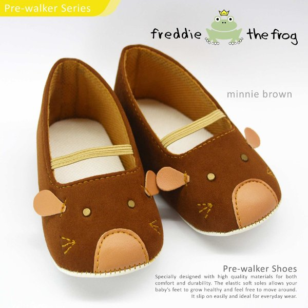 harga Best Seller Sepatu Bayi Pre-Walker 3-12 Bulan Freddie the Frog Minnie Brown elevenia.co.id