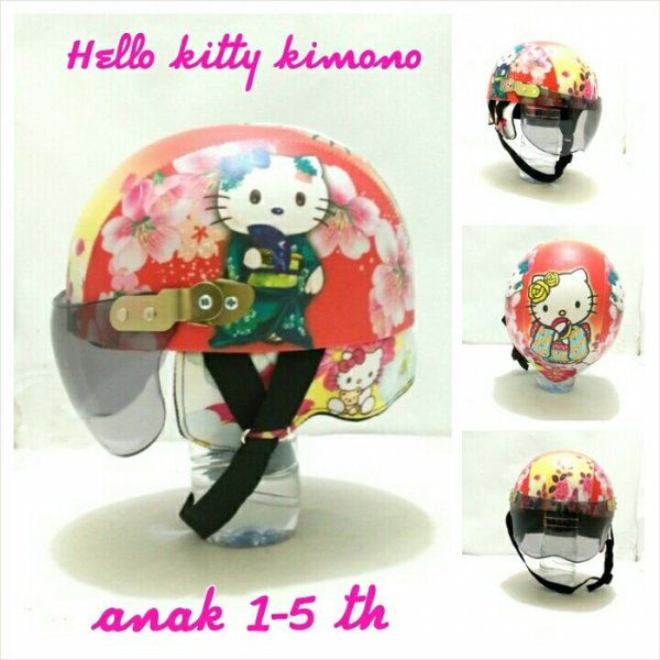 harga Helm Anak 1-5 th Chip Kulit Motif Hello Kitty Kimono elevenia.co.id