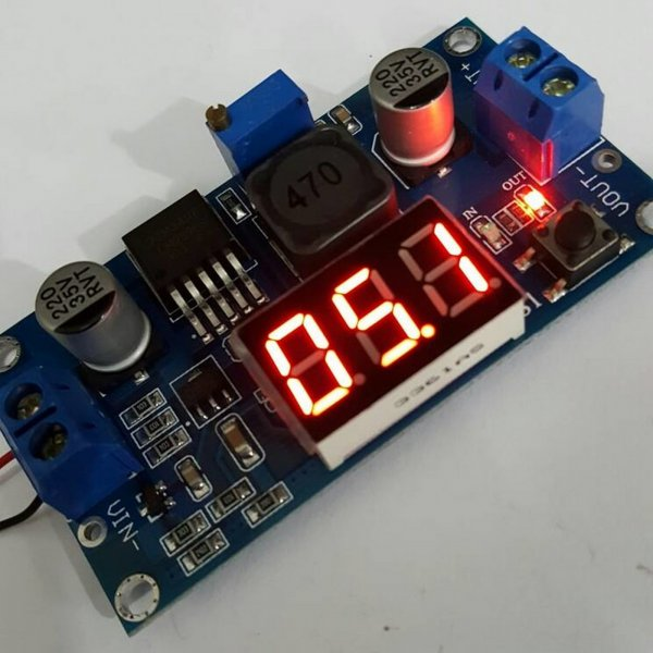 harga SALE Adjustable Stepdown 3A Step Down LM2596S + LED Voltmeter elevenia.co.id