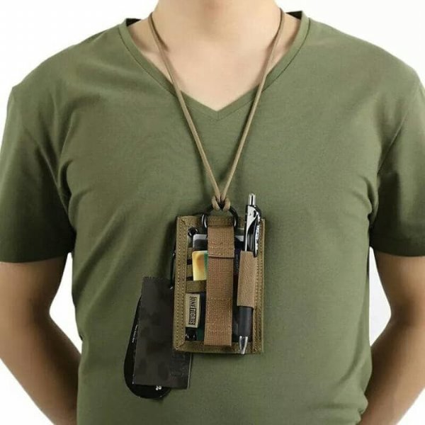 harga Tactical ID Card Holder OneTigris Patch Neck Lanyard elevenia.co.id