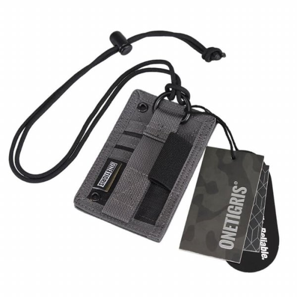harga Tactical ID Card Holder OneTigris Patch Neck Lanyard Gr elevenia.co.id