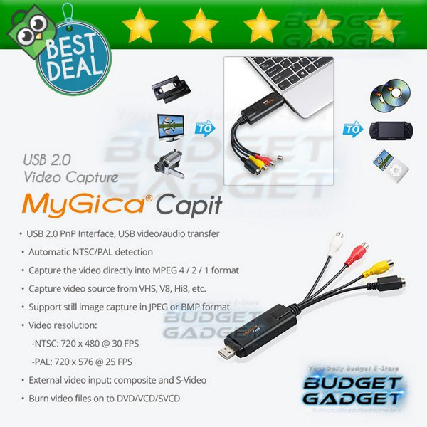 harga MyGica Capit Video Capture USB Adapter Device USB 2.0 elevenia.co.id
