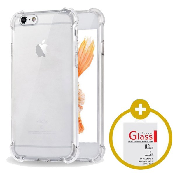 harga [1+1] PAKET HEMAT Softcase Anti Crack / Anti Shock   Tempered Glass elevenia.co.id