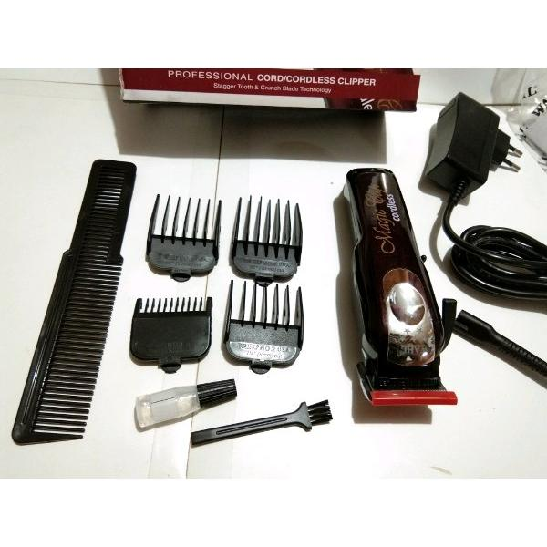 harga Wahl magic clip corldess five star atau 5 bintang hair clipper charger tanpa kabel portable elektrik cas kliper cliper pakai kabel 1 elevenia.co.id
