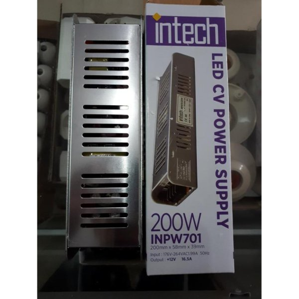 harga New IN TECH LED Driver Power Supply 12VDC 16.5A 200W - INPW701-200W Tn1492 elevenia.co.id