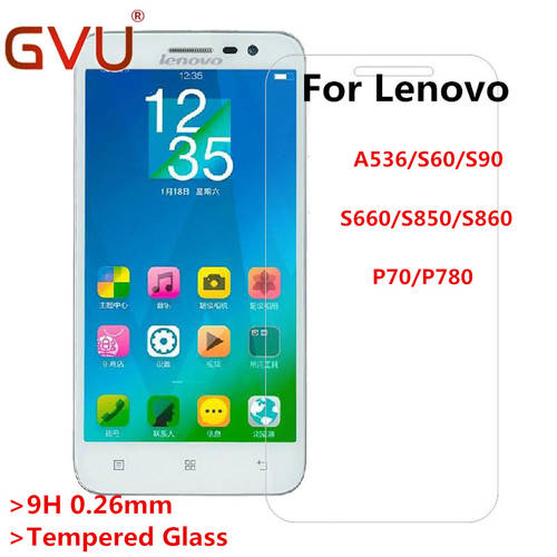 [globalbuy] 0.26mm Tempered Glass Film For Lenovo A536 A8 A806 S60 S90 S660 S850 S860 P1 P/4226785