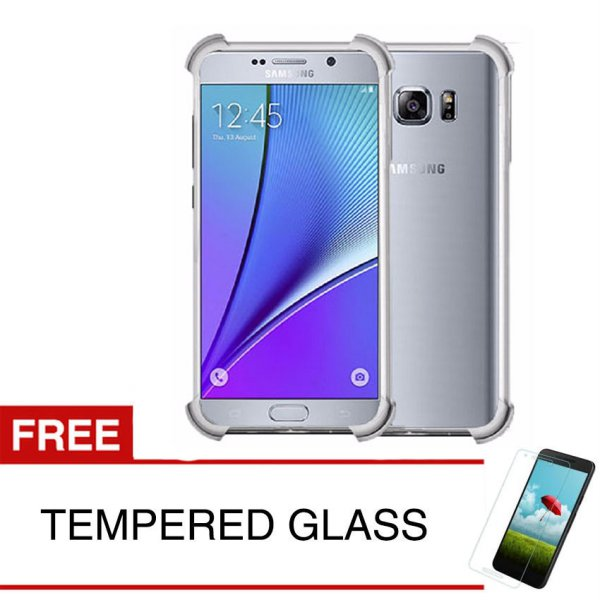 harga ShockProof Case For Samsung Galaxy Note 5 / N920 - 5.7 inch - Clear - Gratis Tempered Glass elevenia.co.id