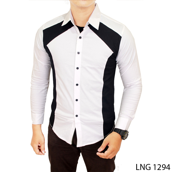 Kemeja Pria Slimfit Model Korea Mens Slim Fit Korean Style Shirt