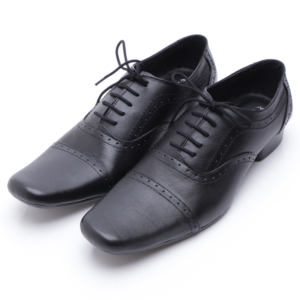 DrKevin Genuine Leather Shoes 83152 Black