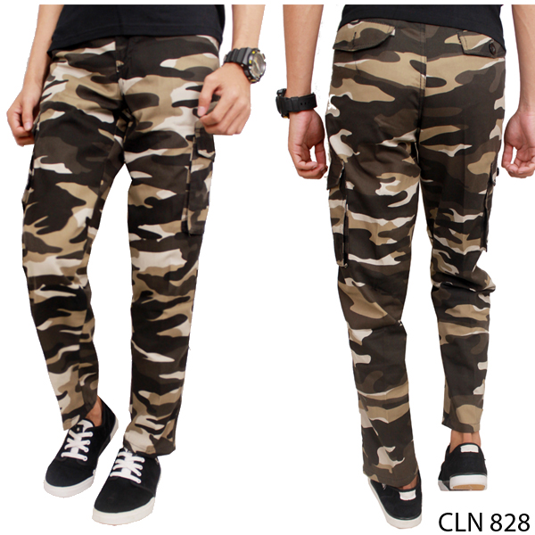 Celana Panjang Loreng / Mens Army Long Casual Pants - CLN 828
