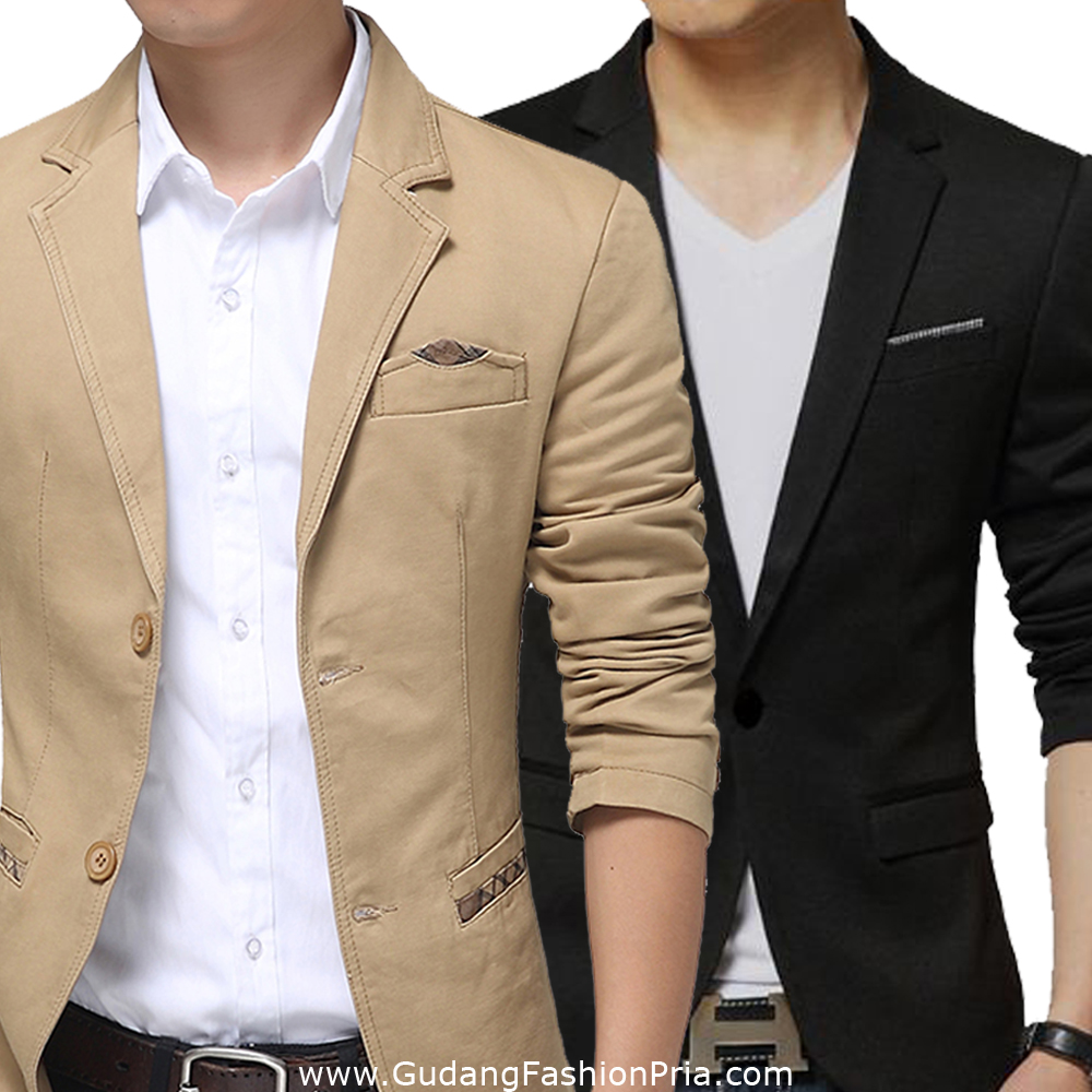 Jas Formal Pria Fashion Terbaru Elevenia Police Jam Tangan Hitam Leather Strap 14340jsb 02 Blazer Katun Semi Mens Suit Model Motif Casual Gaul Keren Murah