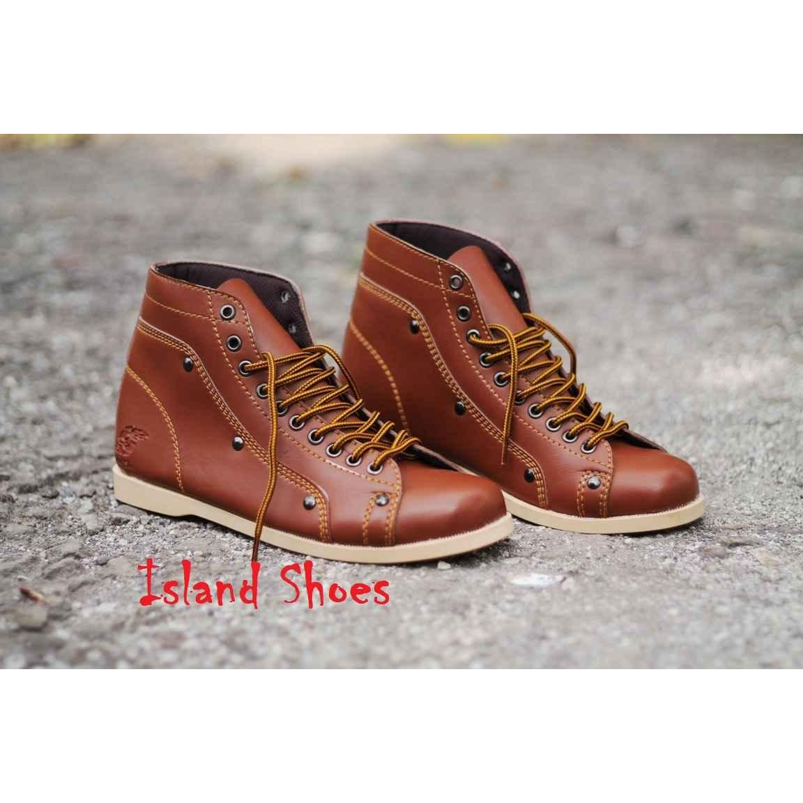 D Island Bandung Elevenia Shoes Slip On Moccasin Loafers Special Leather Cokelat Tua Sepatu Casual Boots Brown For Man