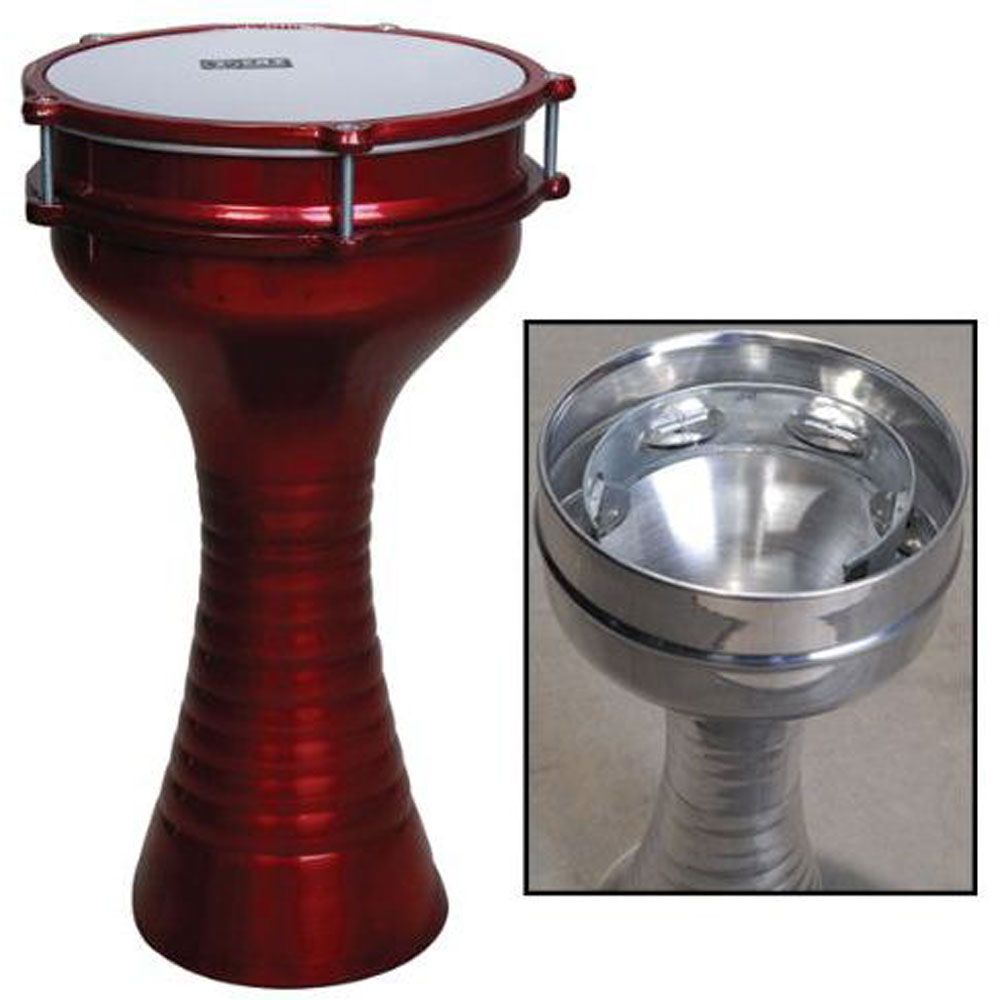 Darbuka Eith Zil Fired Finish Burgundy 205 Cm