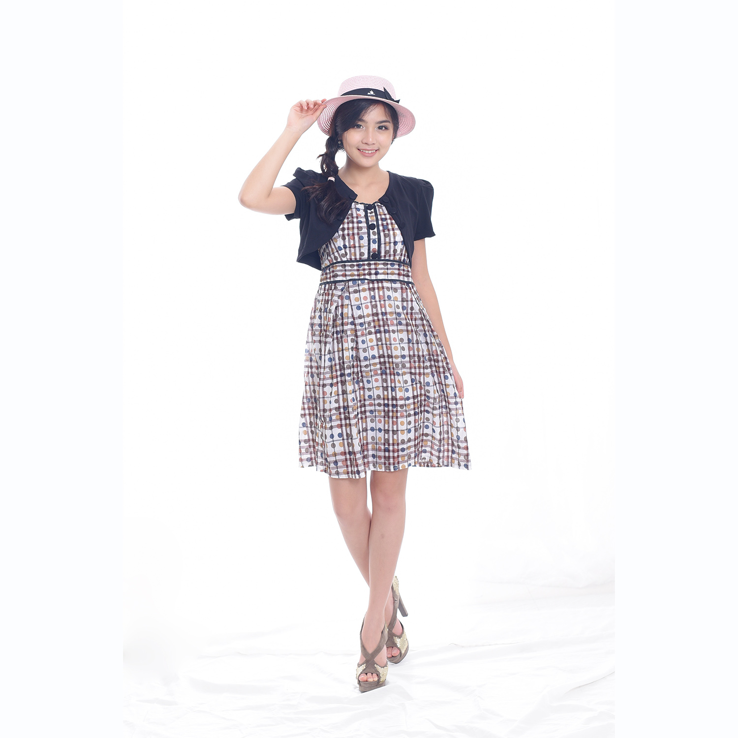 Jfashion Korean Style Stelan Midi Dress Combination - Imelda